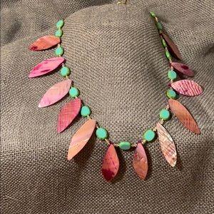 🔮 Vintage Leaf Shell Necklace